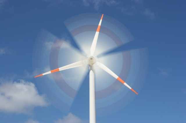 motion effect on wind mill power generator